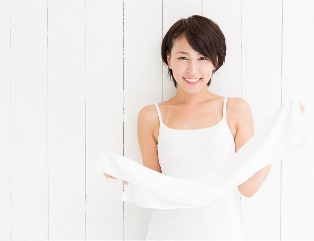 タオル で 大胸筋 を 鍛える バストアップ エクササイズ !